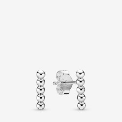 Pandora 298359 Ohrringe Ohrstecker Damen Row of Beads Sterling-Silber