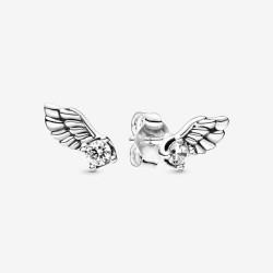 Pandora 298501C01 Ohrstecker Damen Funkelnder Engelsfluegel Silber
