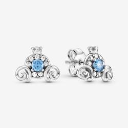 Pandora Disney 299193C01 Ohrringe Cinderella Kürbiskutsche Silber