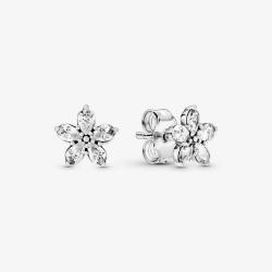 Pandora 299239C01 Ohrstecker Ohrringe Funkelnde Schneeflocke Silber