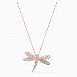 Swarovski 5524856 Halskette mit Anhänger Damen Eternal Flower Libelle Rosé Vergoldet