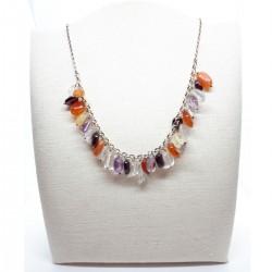 Karat 3009388/42 Halskette Damen Edelsteine Sterling-Silber 43 cm