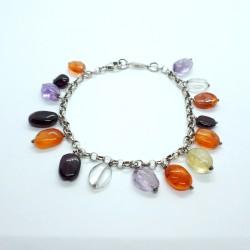 Karat 3502542/18 Armband Damen Edelsteine Sterling-Silber 18 cm