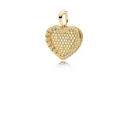 Pandora Shine 367111CZ Ketten-Anhänger Honeycomb Lace Silber 18-K-Gold