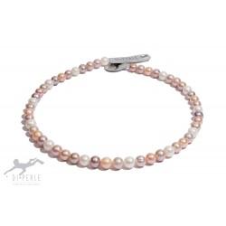 Di Perle 36914107 Halskette Strang Damen Süßwasserzucht-Perlen Natur 45 cm