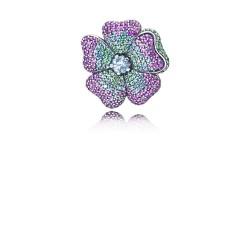 Pandora 397081NRPMX Brosche Ketten-Anhänger Glorious Bloom