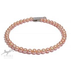 Di Perle 39814115 Halskette Strang Damen Süßwasserzucht-Perlen Natur 45 cm