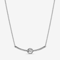 Pandora 398490C01 Halskette mit Anhänger Damen Rundes Funkeln Silber 45 cm