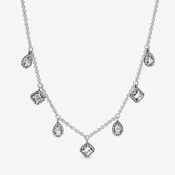 Pandora 398495C01 Kette mit Anhänger Damen Geometric Shapes Silber 45 cm