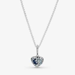 Pandora 399232C01 Halskette Anhänger Funkelnde Blauer Mond & Sterne Herz