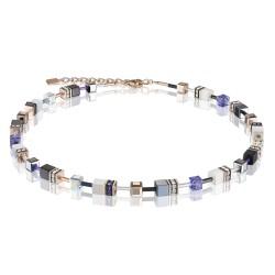 Coeur de Lion 4013/10-0800 Halskette GeoCUBE® Swarovski® Kristalle Lila