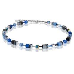 Coeur de Lion 4014/10-0712 Kette GeoCUBE® Swarovski® Kobaltblau