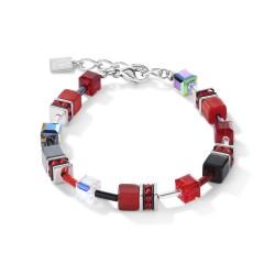 Coeur de Lion 4014/30-0312 Armband Damen Rot Hämatit Edelstahl