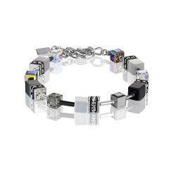 Coeur de Lion 4014/30-1412 Armband GeoCUBE® Swarovski® Hämatit Schwarz