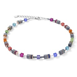 Coeur de Lion 4015/10-1500 Halskette Damen GeoCUBE® Multicolor Edelstahl