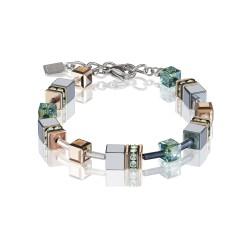 Coeur de Lion 4015/30-0532 Armband GeoCUBE® Swarovski® Kristalle Salbeigrün