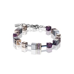 Coeur de Lion 4015/30-0824 Armband GeoCUBE® Swarovski® Hämatit