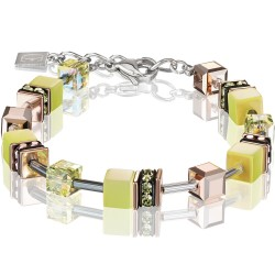 Coeur de Lion 4016/30-0120 Armband GeoCUBE® Swarovski® Kristalle synthetisches Tigerauge