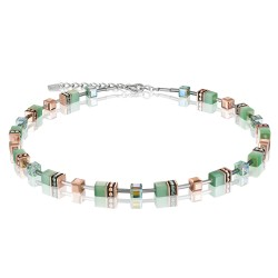 Coeur de Lion 4016/10-0520 Halskette Damen GeoCUBE® Swarovski® Kristalle Hellgrün