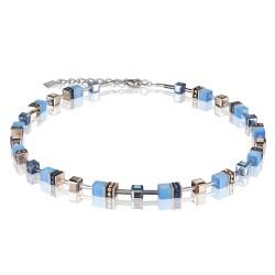 Coeur de Lion 4016/10-0700 Kette GeoCUBE® Swarovski® Kristalle Blau