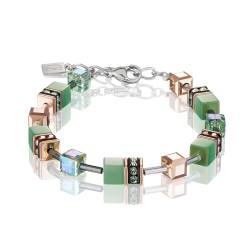 Coeur de Lion 4016/30-0520 Armband GeoCUBE® Swarovski® Kristalle Hellgrün