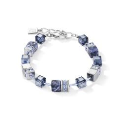 Coeur de Lion 4017/30-0700 Armband GeoCUBE® Sodalith & Hämatit Blau Edelstahl