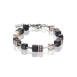 Coeur de Lion 4018/30-1300 Armband DGeoCUBE® Swarovski® Onyx