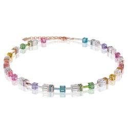 Coeur de Lion 4022/10-1500 Halskette GeoCUBE® Swarovski® Kristalle Multicolor