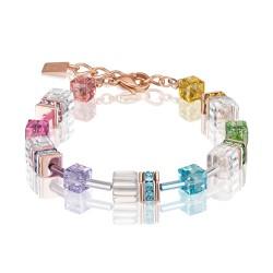 Coeur De Lion 4022/30-1500 Armband GeoCUBE® Swarovski® Multicolor Rosé