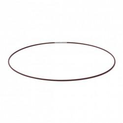 Monomania 40490DL Halskette Damen Silikonband Dunkellila Edelstahl 45 cm