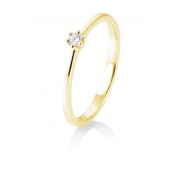 Breuning 41/85770-0 Ring Brillant 0,05 ct W-si 14 kt Gelbgold