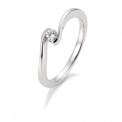 Breuning 41/85941 Ring Brillant 0,15 ct W-si 14 kt Weissgold
