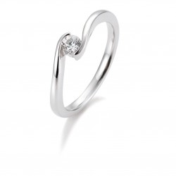 Breuning 41/85942 Ring Brillant 0,20 ct W-si 14 kt Weissgold