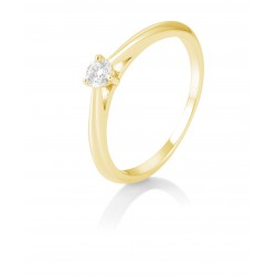 Breuning 41/86623-0 Ring Brillant 0,15 ct W-si 14 kt Gelbgold