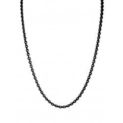 Monomania 42403S-40 Halskette Damen Edelstahl Schwarz 40 cm