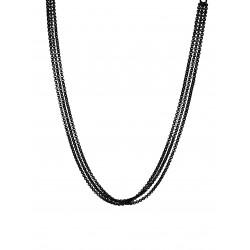 Monomania 43109S-40 Halskette Damen 3-fach Schwarz Edelstahl 40cm