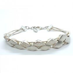 Esprit 4324404 Armband Damen Glamour Check Sterling-Silber Zirkonia 18 cm