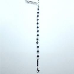 Monomania 43508 Armband Damen Suesswasser-Perle Grau Edelstahl 20 cm
