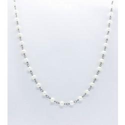 Monomania 43905 Halskette Damen Süßwasserperle Weiss Edelstahl 46 cm