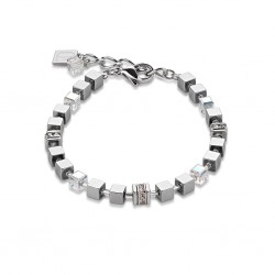 Coeur de Lion Armband Geo Cube Hämatit kristall 4857/30-1800