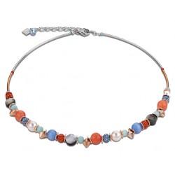 Coeur de Lion Collier Swarovski® aqua-orange 4864/10-2002
