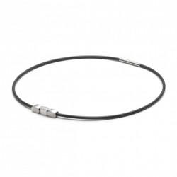 Monomania 49020 Halskette mit Anhänger Herren Silikonband Edelstahl 50 cm
