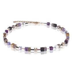 Coeur de Lion 4905/10-0836 Halskette GeoCUBE® Swarovski® Kristalle Edelsteine