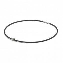 Monomania 49100 Halskette mit Anhänger Herren Silikonband Edelstahl 45 cm