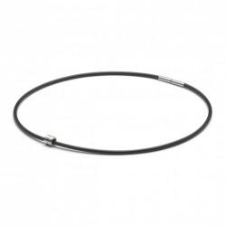 Monomania 49180 Halskette mit Anhänger Herren Silikonband Edelstahl 45 cm