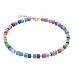 Coeur de Lion 4927/10-1520 Kette Collier GeoCUBE® Hämatit Rosé Rainbow