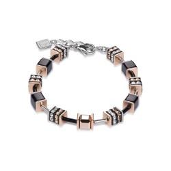 Coeur de Lion 4928/30-1523 Armband GeoCUBE® Swarovski® Strass Multicolor Natur