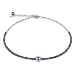 Coeur de Lion 4932/10-1700 Kette Damen Hämatit Edelstahl Silber