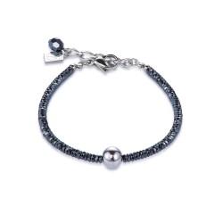 Coeur de Lion 4932/30-1700 Armband Damen Hämatit Edelstahl Silber