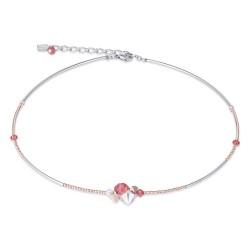 Coeur de Lion 4952/10-0323 Kette Swarovski® Kristalle Rosé Koralle